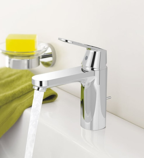 Buy Grohe Eurosmart Cosmopolitan Silver Brass Bathroom Faucet Online
