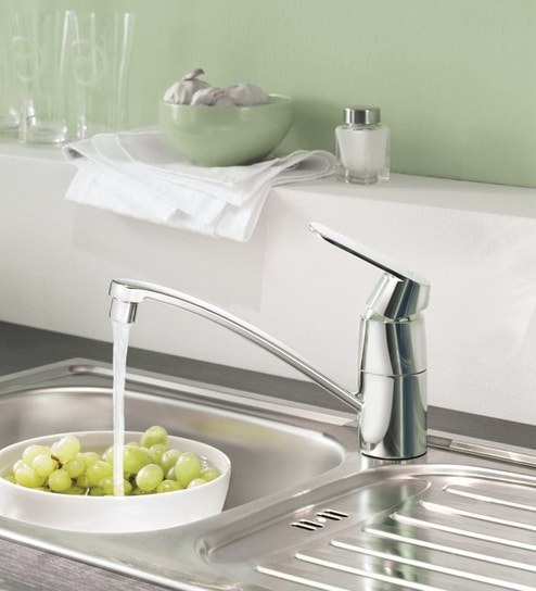 Buy Grohe Eurosmart Cosmopolitan Silver Brass Low Spout Kitchen