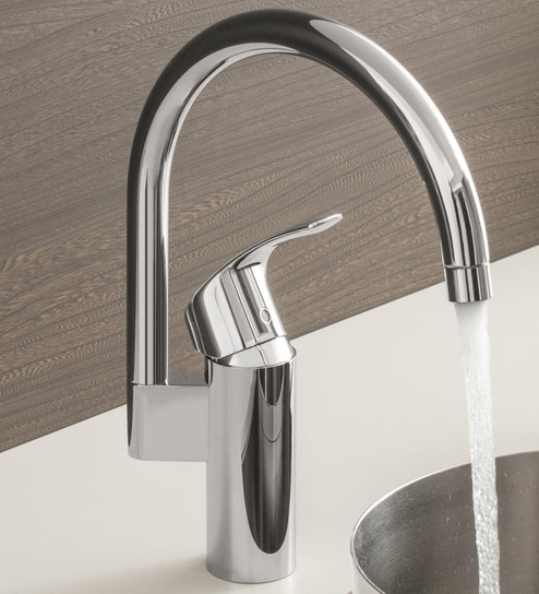 Buy Grohe Eurosmart Silver Brass High Spout Kitchen Faucet Online