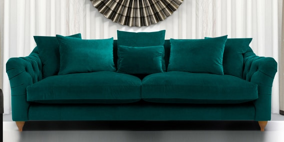 Etonnant Grendale Stylish Three Seater Sofa In Greenish Blue Colour By Dreamzz  Furniture