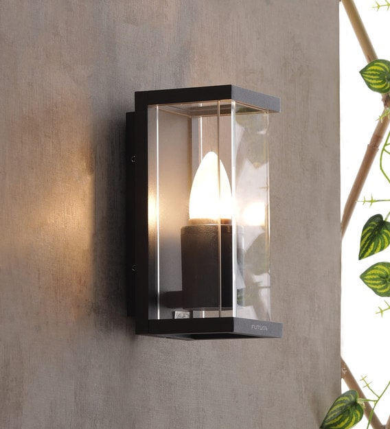 Buy Alma Grey Metal Outdoor Wall Light By Jainsons Emporio Online Outdoor Wall Lights Outdoor Lights Lamps Lighting Pepperfry Product