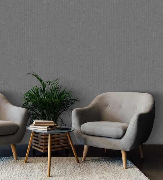 Buy Grey Vinyl Solid Wallpaper By Excel Wallcoverings Online Solid Wallpapers Furnishings Home Decor Pepperfry Product