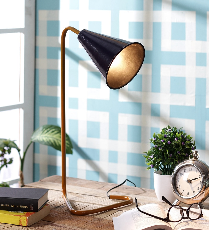 Blue Iron Study Lamp by Grated Ginger