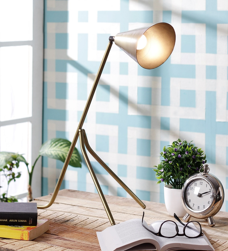 Brass Iron Study Lamp by Grated Ginger