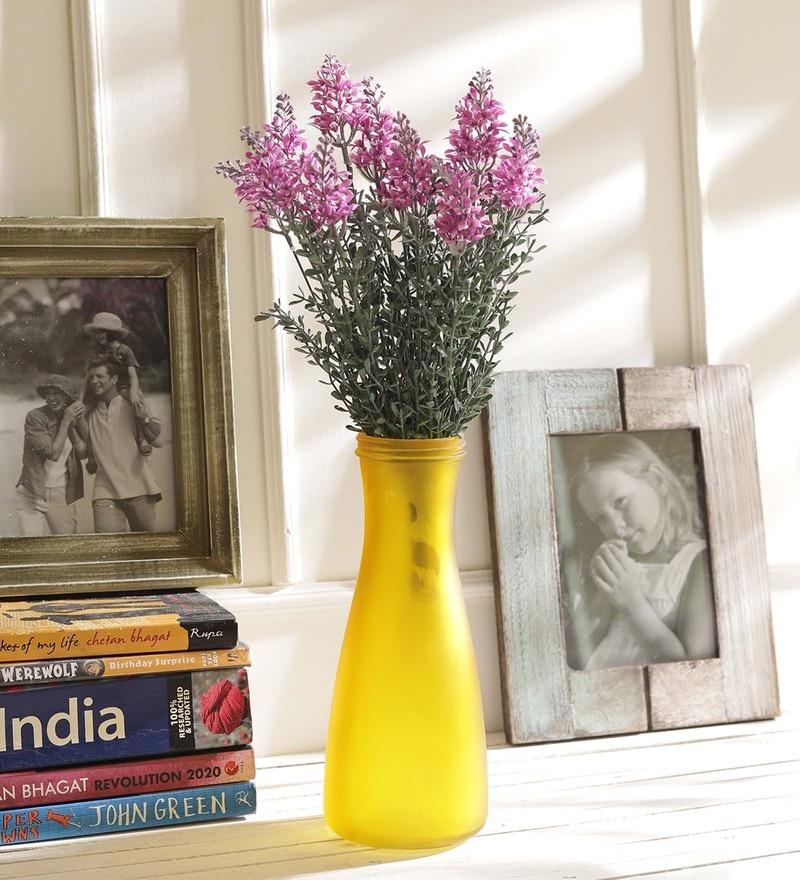 Green & Purple Plastic Decorative Artificial Flowers by Tayhaa