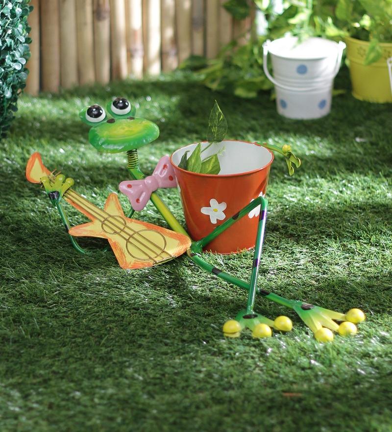 Frog Playing Guitar Planter by Green Girgit