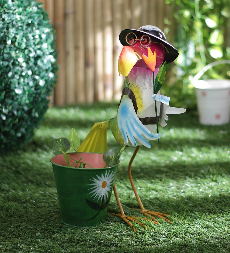 Hen with Hat & Glasses Planter by Green Girgit