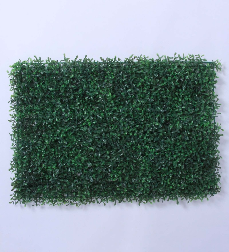 Green Plastic Artificial PVC Eucalyptus Green Tiles by Fourwalls - Set of 2