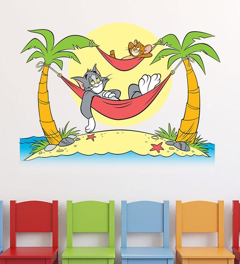 Pleasant Green Vinyl Warner Bros Tom Jerry Matte Finish Wall Sticker By Spinn Decor Andrewgaddart Wooden Chair Designs For Living Room Andrewgaddartcom