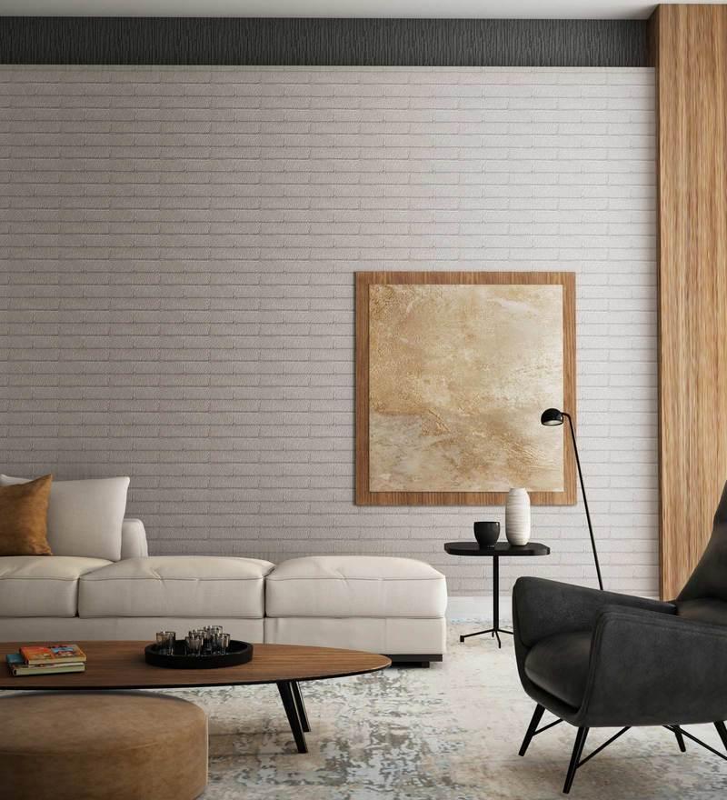 Grey Black Brick Folio Wallpaper Nilaya Wall Coverings By Asian Paints