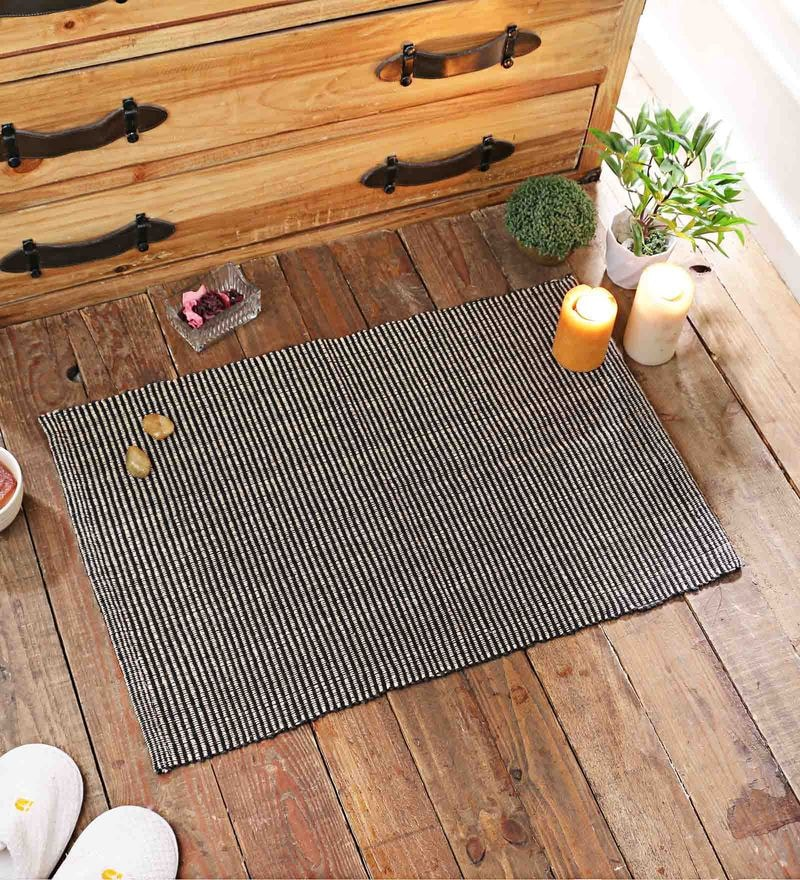 Grey Cotton 20 x 30 Inch Door Mat by SWHF