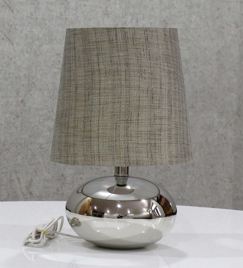 Grey Handloom Fabric with Acrylic Sheet Table Lamp by Craftter