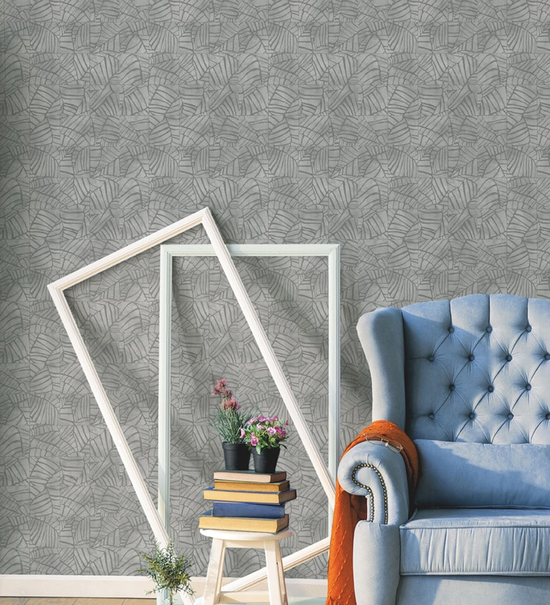 Grey Non Woven 1 77 X 32 8 Feet Evolution 2 Wall Coverings By Marshalls