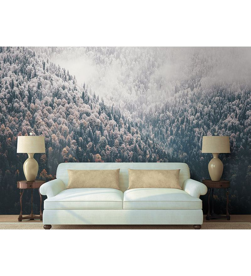 Grey Non Woven Paper The Snow Valley  Wallpaper by Wallskin