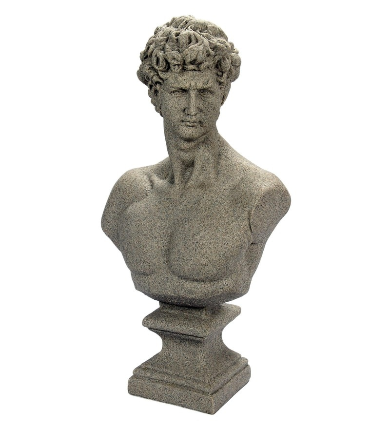Grey Resin Sand David Figurine by V Decor