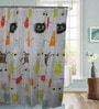Gran GNNSC4 Multicolor Polyester Shower Curtain with 12 Hooks