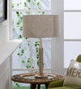 Beige Cotton Table Lamp by Grated Ginger
