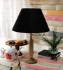 Black Cotton Table Lamp by Grated Ginger