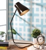 Grated Ginger Brown Iron Study Lamp