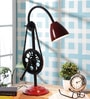 Red Iron Table Lamp by Grated Ginger