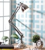 Silver Iron Study Lamp by Grated Ginger