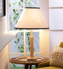 White Cotton Table Lamp by Grated Ginger
