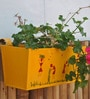 Yellow Railing Rectangular Planter by Green Gardenia