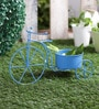 Big Cycle Blue Metal Planter by Green Girgit
