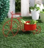 Big Cycle Red Metal Planter by Green Girgit