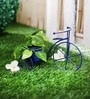 Green Girgit Blue Metal Cycle Planter
