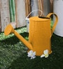 Green Girgit Design Embossed Watercane in Yellow Colour
