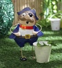 Fat Blue Pirate Planter by Green Girgit