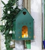 Green Girgit Green Metal Bird House