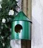 Green Girgit Green Metal Bird House