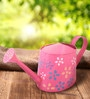 Green Girgit Handpainted Watercane in Pink Colour