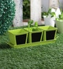 Herb Set Chalk Board Green Metal Planter by Green Girgit