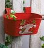 Mushroom Tub in Red Colour by Green Girgit