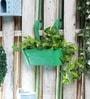 Green Metal Oval Railing Planter by Green Girgit