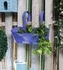 Purple Metal Oval Railing Planter by Green Girgit