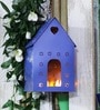 Green Girgit Purple Metal Bird House