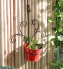Red Metal Single Wall Mounted Planter by Green Girgit