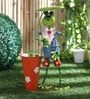 Tall Frog holding Umbrella Planter by Green Girgit