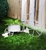 White Metal Cycle Planter by Green Girgit
