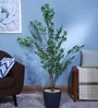 Green Polyester 1692 Leaves Artificial Jade Plant by Fourwalls