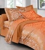 Multicolour Cotton Ethnic Double Bed Sheet (with Pillow Covers) - Set of 5 by GRJ India