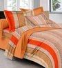GRJ India Multicolour Cotton Ethnic Double Bed Sheet Set