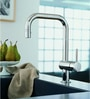 Grohe Minta Silver Brass Kitchen Faucet (Model: 32322000)