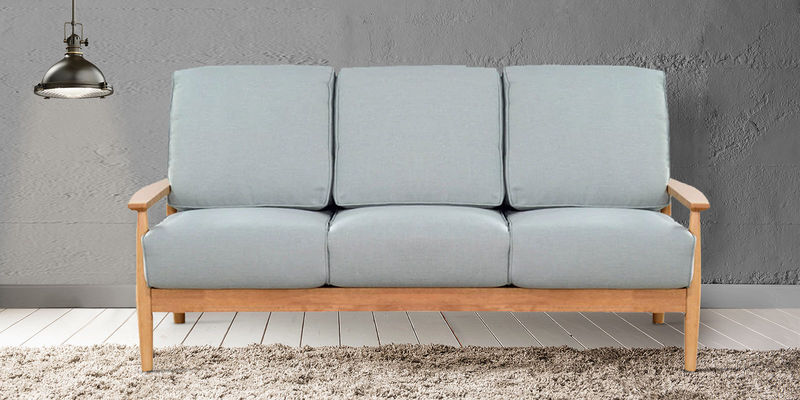 Guarulhos Three Seater Sofa in Grey Colour by CasaCraft