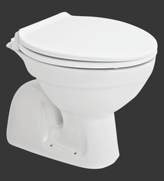 H & R Johnson Ruby-Conceal -Sf White Ceramic Water Closet With Seat Cover And Flush Tank