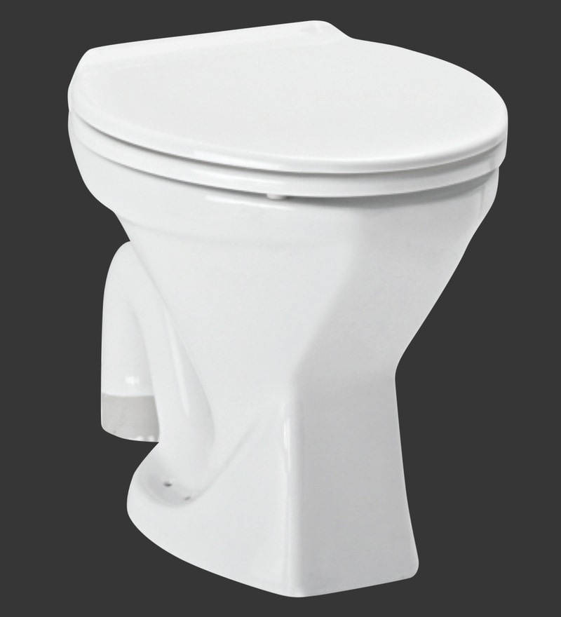 H & R Johnson Pearl-Ewc-S White Ceramic Water Closet with Seat Cover